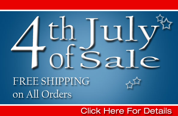 4th of July Sale: FREE SHIPPING on ALL Orders