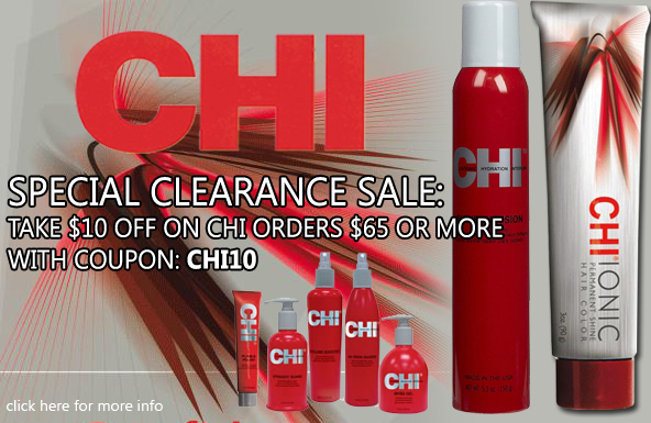 CHI Special Clearance Sale: Take $10 off on CHI orders $65 or more