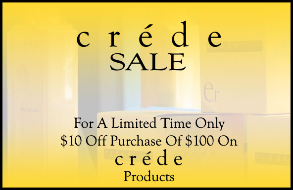 Crede Sale: Save $10 On Purchase of $100 or More on Crede Products