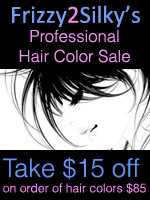 Frizzy2Silkys Professional Hair Color Sale: Take 15 Off + FREE SHIPPING On Any Hair Color Order 85 Or More