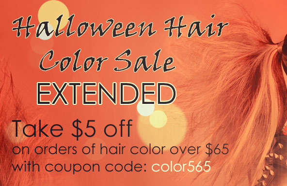 Halloween Hair Color Sale Extended $5 Off Order Over $65