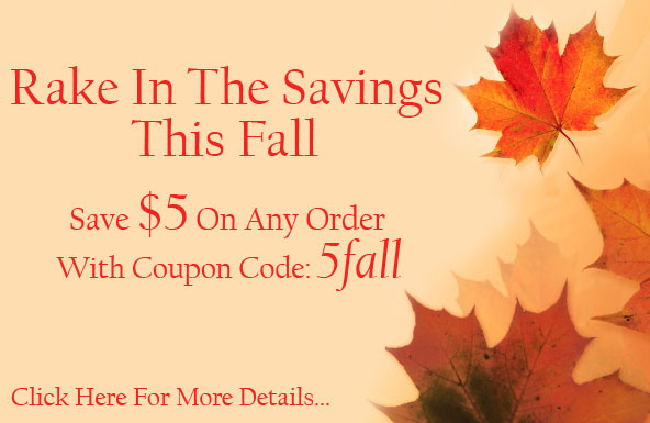 Rake In The Savings This Fall: Save $5 On Any Order