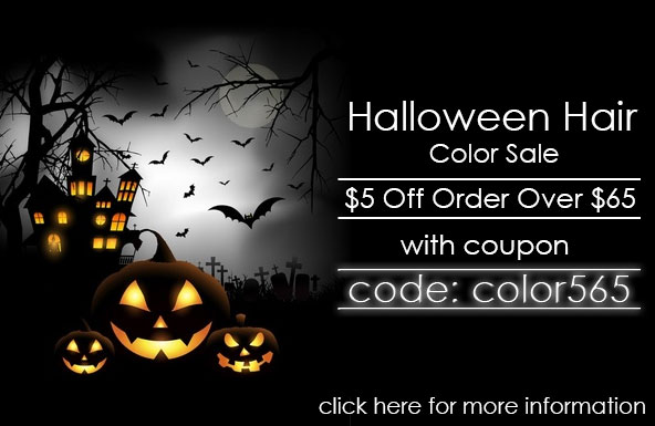 Halloween Hair Color Sale $5 Off Order Over $65